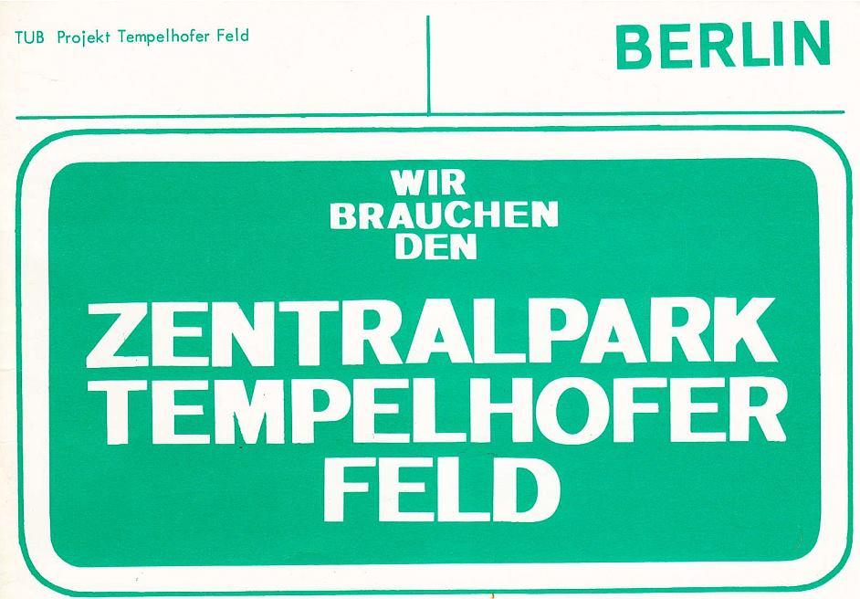 TU-Projekt fordert einen Zentralpark Tempelhofer Feld
