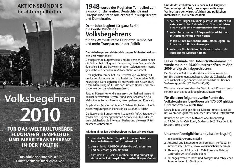 Bürgerentscheid: Das Denkmal Flughafen Tempelhof erhalten – als Weltkulturerbe schützen