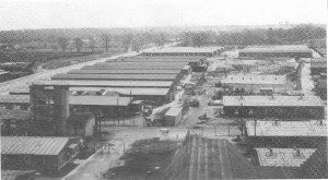 Flughafen Tempelhof, Barackenlager an Halle 1 1930er/40er Jahre