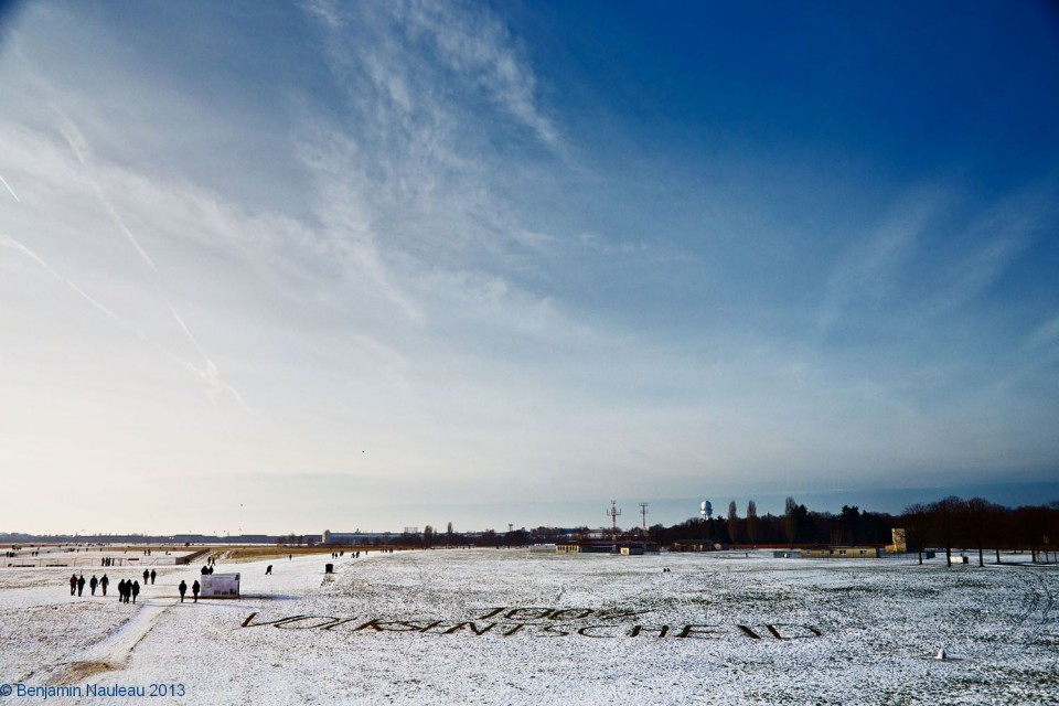 Volksentscheid Tempelhofer Feld am Europa-Wahltag 25. Mai 2014